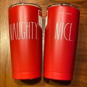 Rae Dunn Naughty Nice Double Sided Metal Tumbler